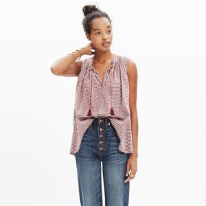 Madewell Tops - NEW WITH TAGS! Madewell bellshift check tank top